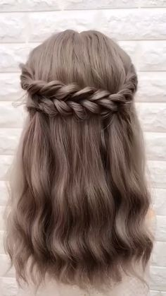Hair Tutorials For Medium Hair, Hairstyles For Medium Length Hair Easy, Prom Hairstyles For Short Hair, Cute Hairstyles, Party Hairstyles, Princess Hairstyles, Hairstyle For Women, Easy Hair Tutorials, Medium Length Wedding Hair