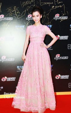 Fabulously Spotted: AngelaBaby Wearing Valentino - Weibo Night 2013 - http://www.becauseiamfabulous.com/2014/01/angelababy-wearing-valentino-weibo-night-2013/