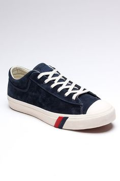 Blue suede trainers