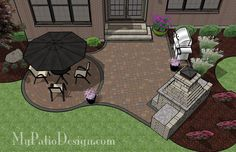 Beautiful Patio with Outdoor Fireplace | Patio Designs and Ideas
