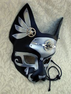 masquerade + steam-punk + Egyptian cat goddess = WANT Steampunk Accessories, Steampunk Clothing, Steampunk Fashion, Gothic Fashion, Gato Steampunk, Steampunk Cosplay, Steampunk Diy, Egyptian Cat Goddess, Japanese Mask
