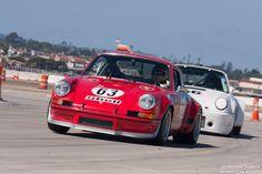 Ranson Webster in his 1973 Porsche 911 RSR.