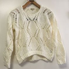 Shop Women's Red berry fashion size S/M Sweaters at a discounted price at Poshmark. Description: Off white .. Knitted sweater. Sold by modtage. Fast delivery, full service customer support.