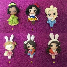 Listing is for one polymer clay doll. Perfect for your bows and creations Colors may slightly different dues to monitor Price per clay I dont accept returns or exchanges But please contact me if you have any problems with your order. Polymer Clay Disney, Polymer Clay Dolls, Polymer Clay Charms, Plastic Canvas Tissue Boxes, Plastic Canvas Patterns, Diy Home Crafts, Clay Crafts, Monster High Custom, Gum Paste Flowers