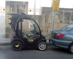 Customized Smart Car or Golf Cart as a Batmobile