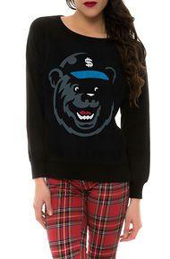 Cashletes The Fetty Bear Crewneck Sweatshirt in Black