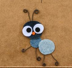 Ant Crafts, Preschool Crafts, Diy And Crafts, Crafts For Kids, Arts And Crafts, Egg Carton Crafts, Deco Nature, Pattern Coloring Pages, Denim Crafts