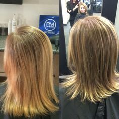 Before and after balayage!