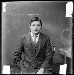 """The photograph shown here shows Falleni in male clothing, probably on the day of her arrest. The negative was found in a paper sleeve inscribed """"Falleni Man/Woman."""" It is also possible that Falleni was made to dress in a man's suit for the photograph."""