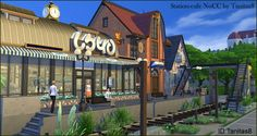 Houses and Lots: Station cafe from Tanitas Sims