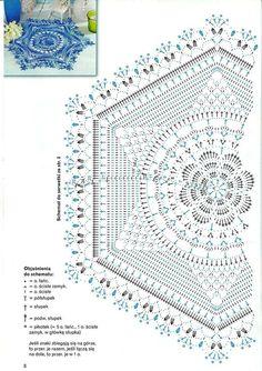 Photo from album Diana Robotki 2015 on Free Crochet Doily Patterns, Crochet Doily Diagram, Crochet Squares, Filet Crochet, Crochet Motif, Crochet Designs, Crochet Doilies, Crochet Flowers, Crochet Carpet