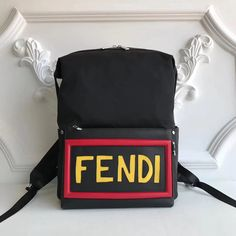 Fendi Nylon and Leather Backpack 100% Authentic  baff3025d46ca