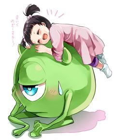 monsters inc, mike and boo