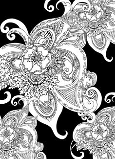 Creative Haven Magical Mehndi Designs Coloring Book: Striking Patterns on a Dramatic Black Background
