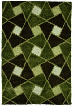 Green diamond shag