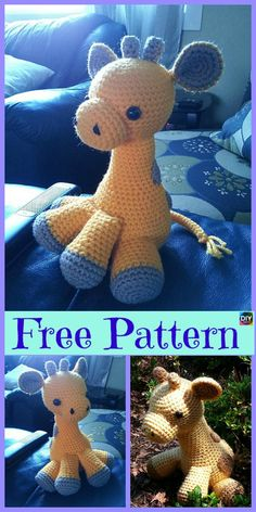 Mesmerizing Crochet an Amigurumi Rabbit Ideas. Lovely Crochet an Amigurumi Rabbit Ideas. Amigurumi Giraffe, Giraffe Crochet, Crochet Amigurumi, Crochet Baby Booties, Amigurumi Patterns, Crochet Dolls, Giraffe Pattern, Crochet Flower Patterns, Crochet Designs