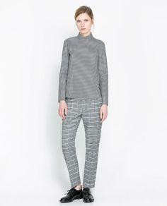 zara grey checkered look.