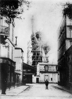 1878 :Atelier où fut réalisée la statue de la Liberté de New York  - (1876 - 1884)