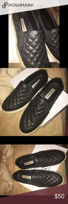 Steve Madden eccentric tennis shoes Black Steve Madden eccentric shoes                                   Size:8                                                                                       Only worn a few times                                                                Good condition Steve Madden Shoes Sneakers