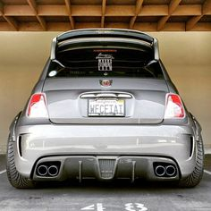 FS: Fifty Go Veleno carbon fiber rear diffuser for Abarth and 500T ( see next image for another perspective of this revamped blast from the past Fiat 500 but with a T for Turbo assisted in this case !! )