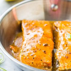 Maple Barbeque-Glazed Salmon - The glaze is smoky and sweet with a bit of heat & makes this 15 minute recipe just pop! Salmon Recipes, Fish Recipes, Seafood Recipes, Cooking Recipes, 15 Minute Meals, Quick Easy Meals, Easy Healthy Recipes, Healthy Options, Healthy Meals