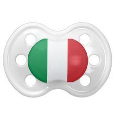 Italian flag for baby binky/pacifier