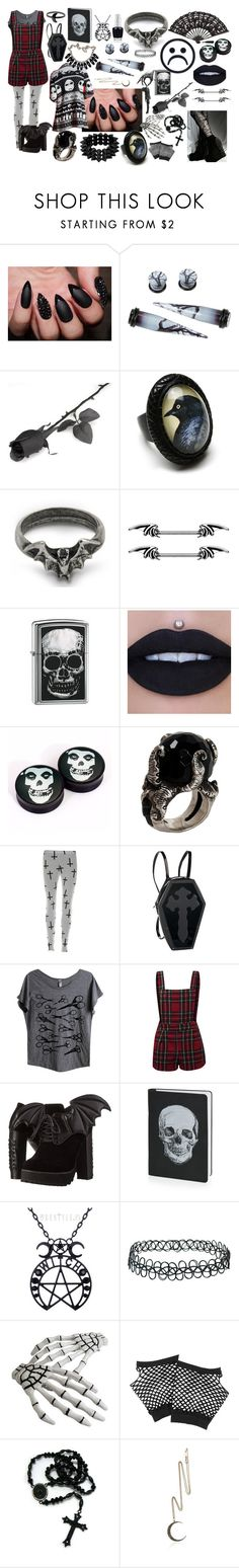 """""""Untitled #322"""" by diana-littlefield ❤ liked on Polyvore featuring Hot Topic, Raven Denim, Zippo, KD2024, Mad Love, Iron Fist, Topshop, Clips, Forever 21 and Shamballa Jewels"""