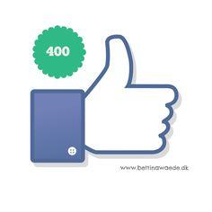 Nåede 400 likes på facebooksiden i dag og derinde er der lodtrækning om en gratis session i dag.. :) www.facebook.com/bettinawaede.dk