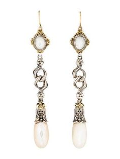 Konstantino Two-Tone Mother of Pearl Drop Earrings