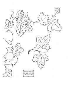 grape leaf embroidery patterns