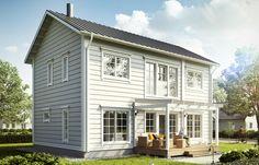 Lehmuskuja house collection. Honka log homes.