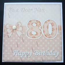 Image result for handmade 80th birthday cards