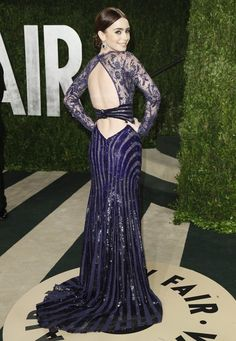 vanity fair oscar party 2013 - Lily Collins