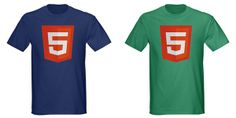 HTML 5 Shirt – Another t-shirt that tells the whole world the wearer knows HTML5. For more cool gift ideas for designers check out this list: http://www.1stwebdesigner.com/design/gifts-for-web-designers/ #christmas #gift #designer #geek