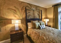 Faux Ceiling with palm trees | Decorative Art | Artistic Interiors of Southwest Florida