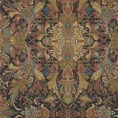 Lakota Paisley - Imperial Blue - Paisley - Fabric - Products - Ralph Lauren Home - RalphLaurenHome.com