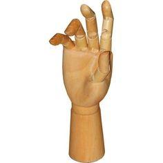 Mão Articulada de Madeira 30cm Direita - 189,00