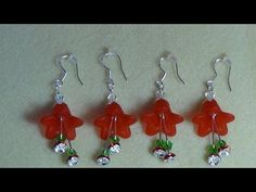 (Tutorial) Christmas Bell Earrings (Video 15) - YouTube