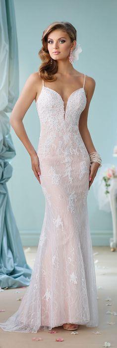 Wedding Dresses by Mon Cheri - Enchanting Spring 2016 ~Style No. 116144 #laceweddingdresses
