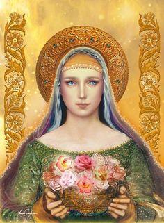 Nossa Senhora da Rosa Mística como Mestra por Cláudio Gianfardoni