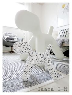 https://flic.kr/p/Egzr9d | New Puppy XS Dalmatian |                                And the proud mama, Puppy XL .. ;)  Designed by Eero Aarnio, 2003.