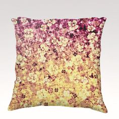 FLOWER POWER Fine Art Velveteen Throw Pillow Cover by EbiEmporium