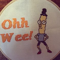 Rick and Morty cross stitch - Mr Poopy Butthole