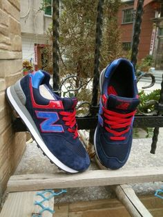 New Balance ML574 RoboCop Navy Blue Red Mens Sneakers New Balance Sneakers be94b71d39db