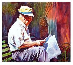 """Daily+Paintworks+-+""""News+from+home.""""+-+Original+Fine+Art+for+Sale+-+©+Graham+Berry"""