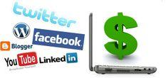 Jobb hjemmefra ved å bruke sosiale medier i 2014.