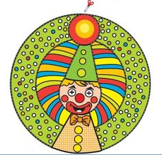children activities, more than 2000 coloring pages Craft Activities, Preschool Crafts, Diy Crafts For Kids, Projects For Kids, Art Projects, Arts And Crafts, Paper Toys, Paper Crafts, Clown Crafts