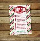 Christmas cards with top ten