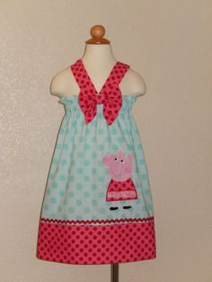 Peppa Pig Halter Dress by Just4Princess on Etsy, $31.00