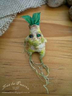 Tender Mandrake Charming. Ooak and Fantasy Art by Silver Berry. Ooak Art Doll One of a Kind Fantasy Sculpture.